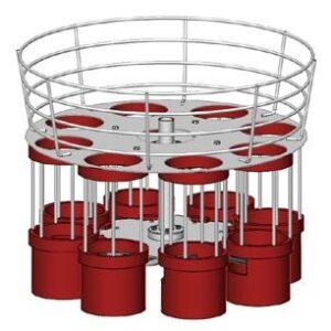 Alimentador tolva completo z08 (rojo)