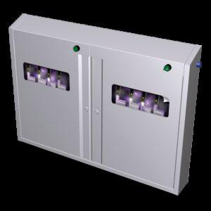 Armario esterilizador de ozono de 996x120x722 mm.