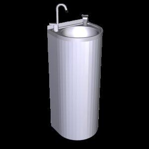 Fuente de agua de columna 350x300x850 mm.