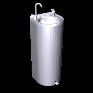 Fuente de agua de columna con pedal 350x300x850 mm.