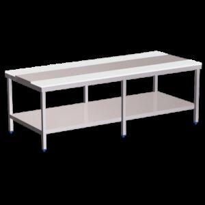 Mesa despiece fb.blanca c/entrep.3000x1300x850 mm.