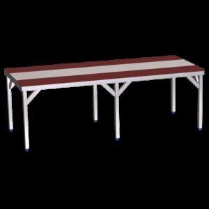Mesa despiece fb.roja s/entrep.1500x1300x850 mm.
