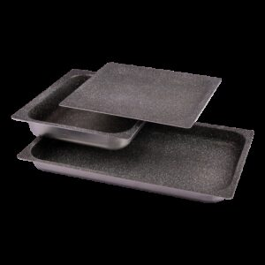 Bandeja de aluminio antiadherente 1/1-20 Dimensiones: 530x325x20 mm.