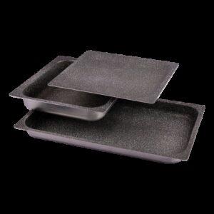 Bandeja de aluminio antiadherente 1/2-40 Dimensiones: 325x265x40 mm.