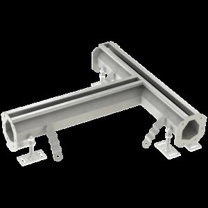 Canal modular ranurado en forma de T 500x100 mm. 500x105x90 mm.