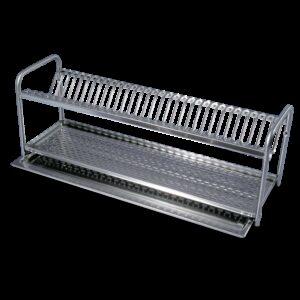 Escurridor para platos y vasos de 910x240x290 mm. Capacidad: 35 platos.